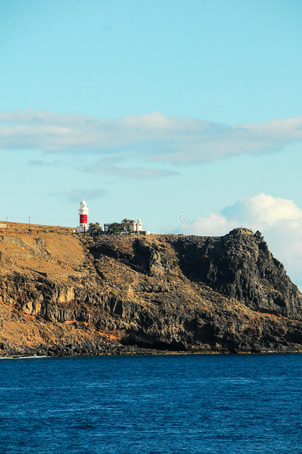 View of La Gomera. Canary Islands from the Ocean royalty free stock images