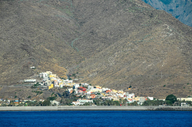 View of La Gomera. Canary Islands from the Ocean stock photos