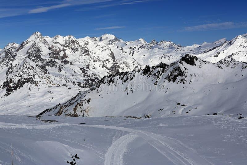 The View From La Grande Motte Winter Ski Resort Of TignesVal D