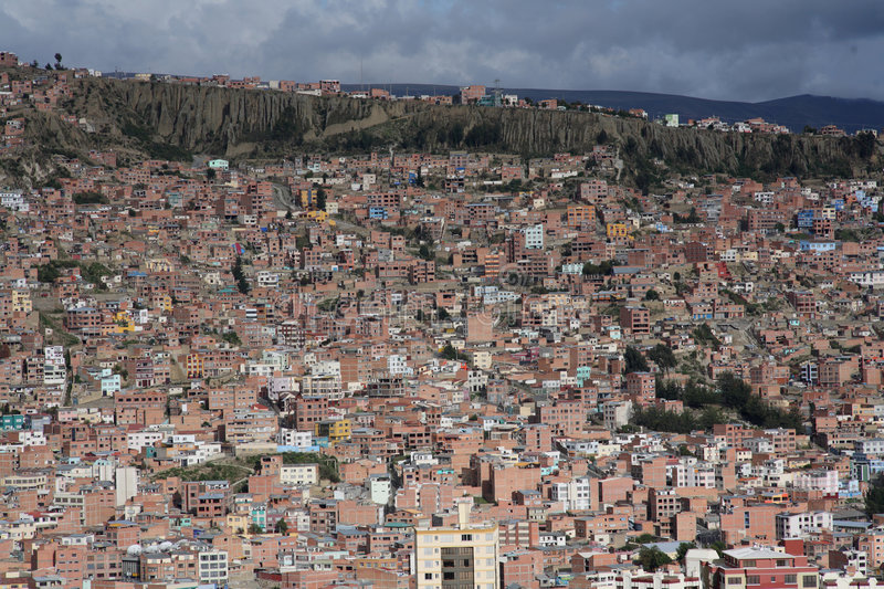 View of La Paz royalty free stock photography
