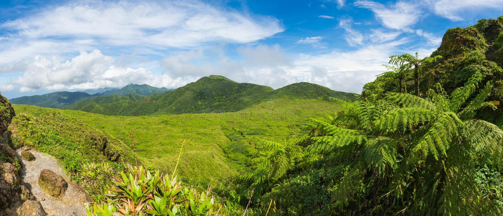 View from La Soufriere stock image