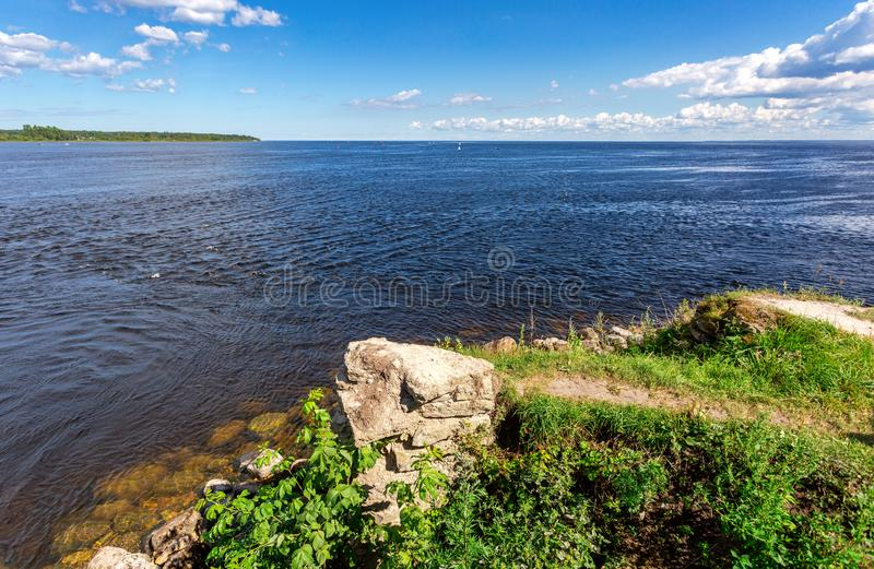 View of the Ladoga lake from the Oreshek. Fortress royalty free stock photos