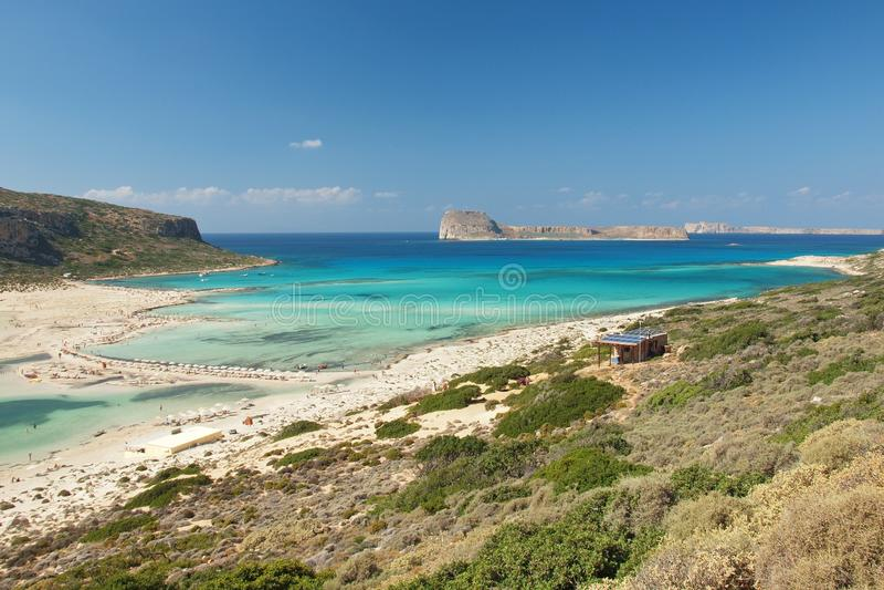 View on the lagoon Balos royalty free stock image