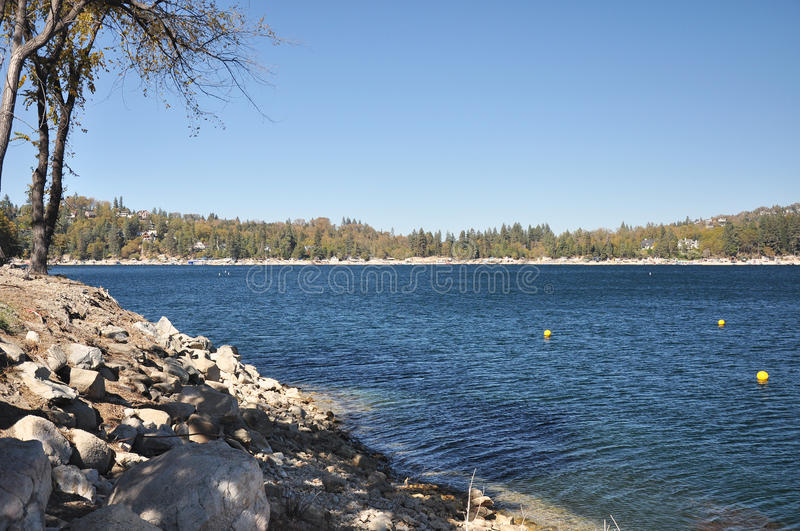 View of Lake Arrowhead stock photos