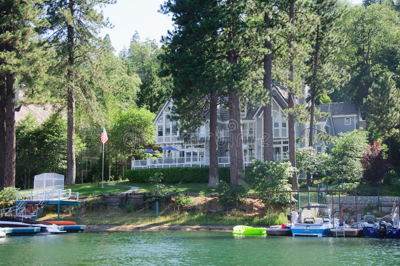 View of Lake arrowhead in California. USA royalty free stock photography