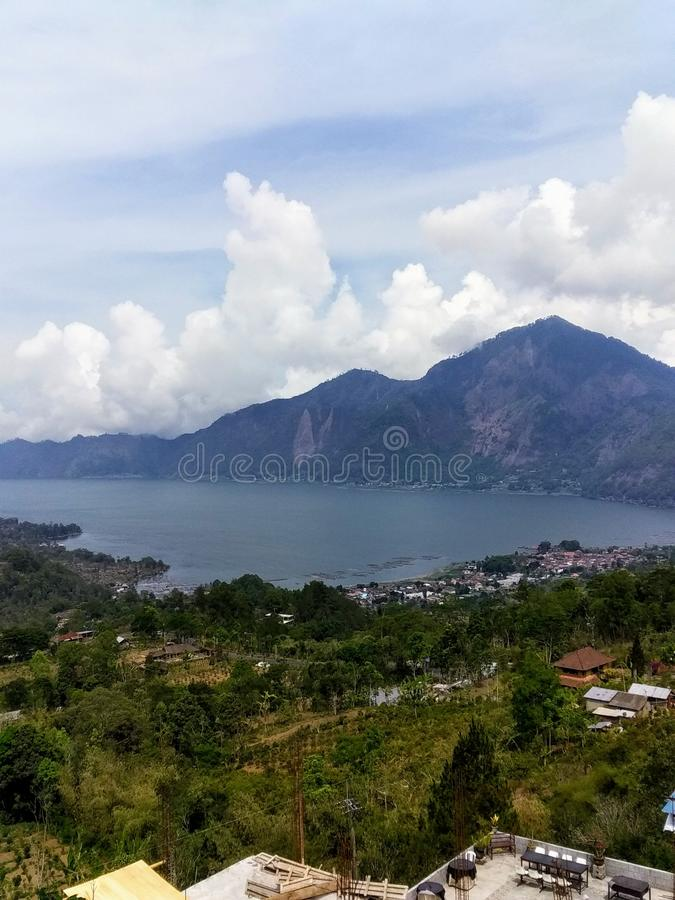 Lake batur. View of lake Batur royalty free stock photo