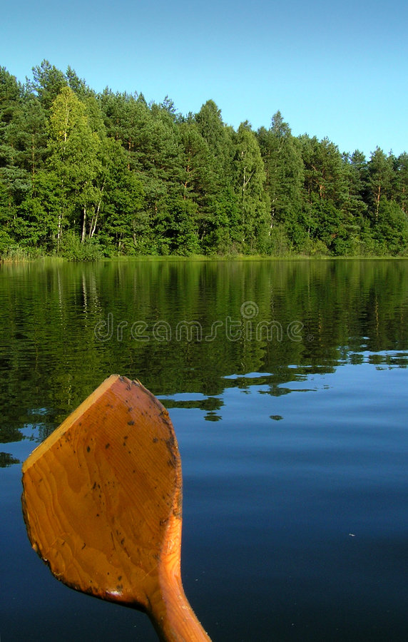View on the lake from the boat royalty free stock photography