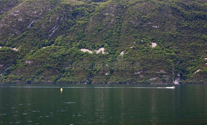 View of Lake Bourget of Aix-les-bains, in french alps, France, 0. 8 May, 2013 royalty free stock photography