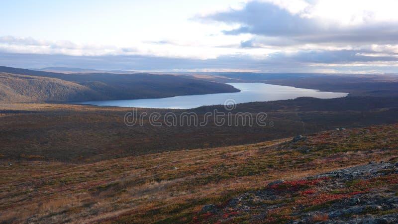 Buolbmátčohka hill view stock image