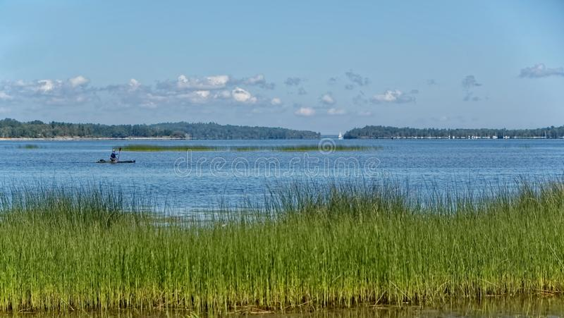 View of Lake Champlain, New York State royalty free stock images