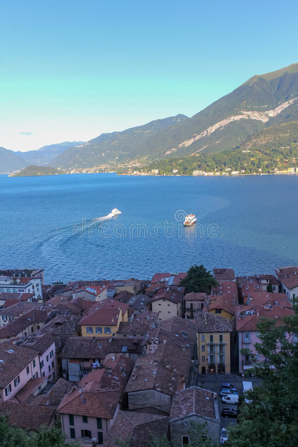 View of Lake Como and Bellagio Town royalty free stock photography