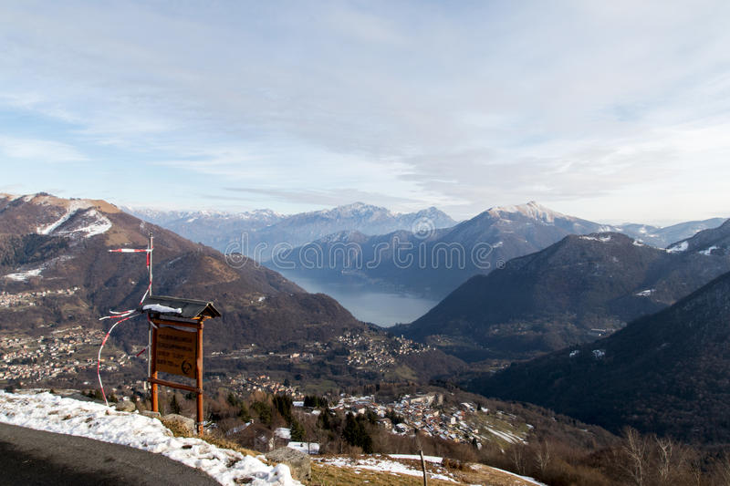 View of Lake of Como from mountains royalty free stock photo