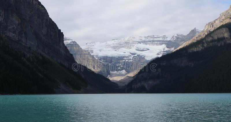 View of Lake Louise in Banff National Park, Canada. A View of Lake Louise in Banff National Park, Canada stock photography