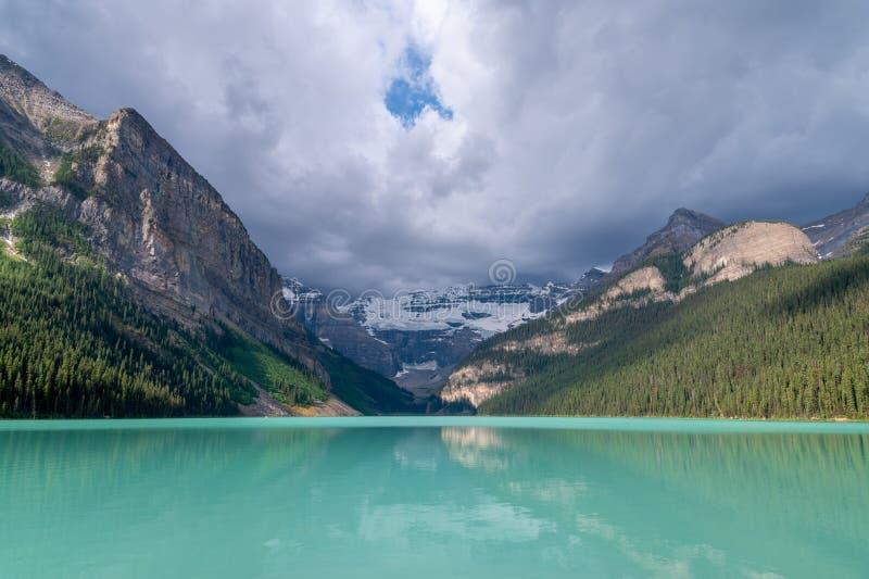 View of Lake Louise at Banff National Park royalty free stock image
