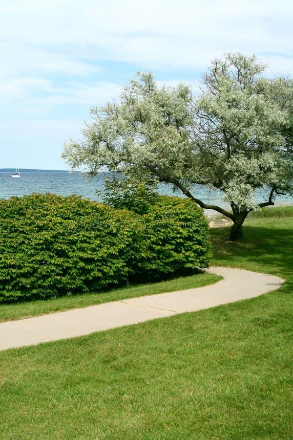 A View of Lake Michigan. A beautiful view of Lake Michigan from a lakeside park royalty free stock photo