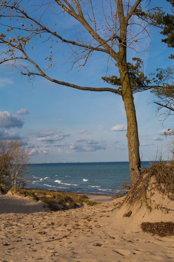 Overlooking Lake Michian stock image