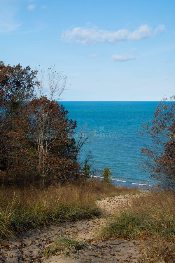 Overlooking Lake Michian stock photo