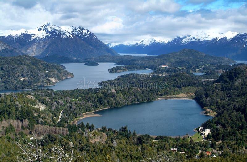View on the lake Nahuel Huapi stock image