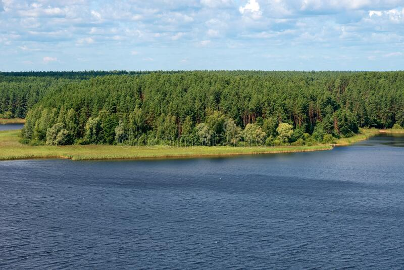 View of Lake Seliger. On a summer day stock photo