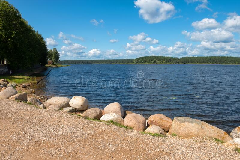 View of Lake Seliger. On a summer day royalty free stock photography