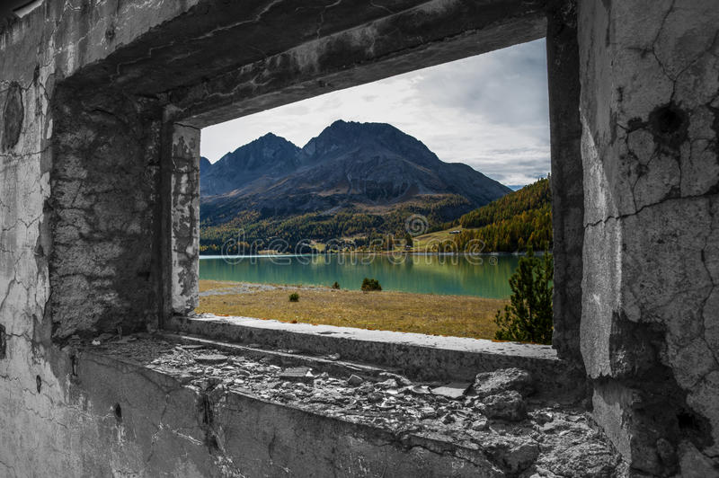 Download A view on the lake stock image. Image of alps, path, season - 30347157