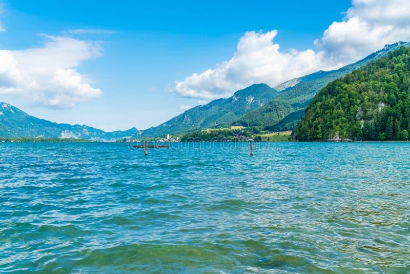 Lake Wolfgangsee, Austria. View of Lake Wolfgangsee, Austria royalty free stock photo