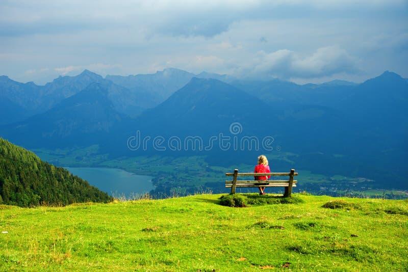 View of Lake Wolfgangsee. Salzskammergut. View of Lake Wolfgangsee. Salzskammergut - Austria stock photo