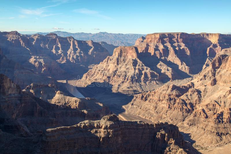 View of landscape in Grand Canyon National Park at USA. Nature, arizona, bryce, river, america, desert, erosion, colorado, background, travel, mountain royalty free stock photography