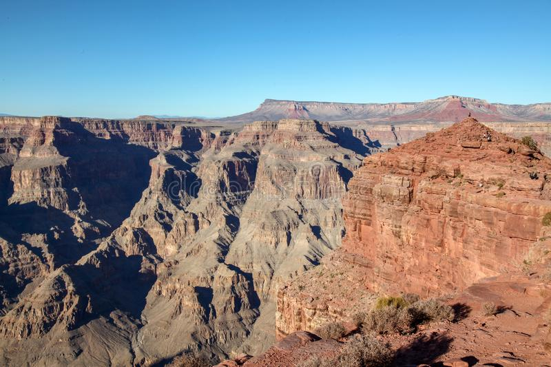 View of landscape in Grand Canyon National Park at USA. Nature, arizona, bryce, river, america, desert, erosion, colorado, background, travel, mountain stock images