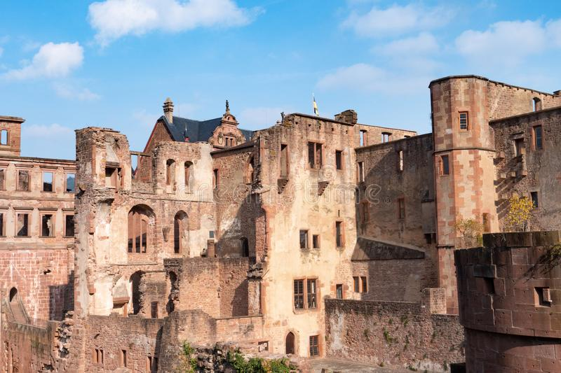 View landscape of inside of Heidelberg Castle and German called Heidelberger Schloss is a ruin in Germany and landmark of. Image of View landscape of inside of royalty free stock photo