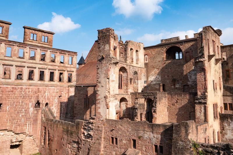 View landscape of inside of Heidelberg Castle and German called Heidelberger Schloss is a ruin in Germany and landmark of. View landscape of inside of Heidelberg royalty free stock photo