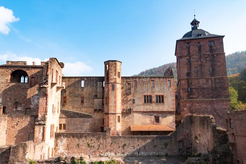 View landscape of inside of Heidelberg Castle and German called Heidelberger Schloss is a ruin in Germany and landmark of. View landscape of inside of Heidelberg royalty free stock image
