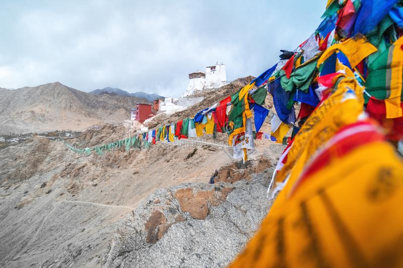 View of Landscape Namgyal Tsemo Gompa in Leh, Ladakh, India royalty free stock photos