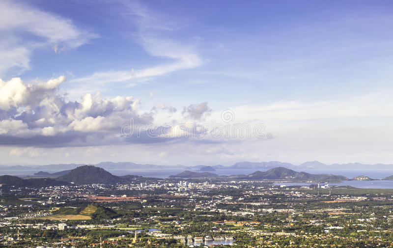 View of landscape phuket island stock photography