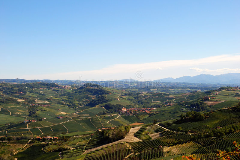 View of the Langhe royalty free stock photography