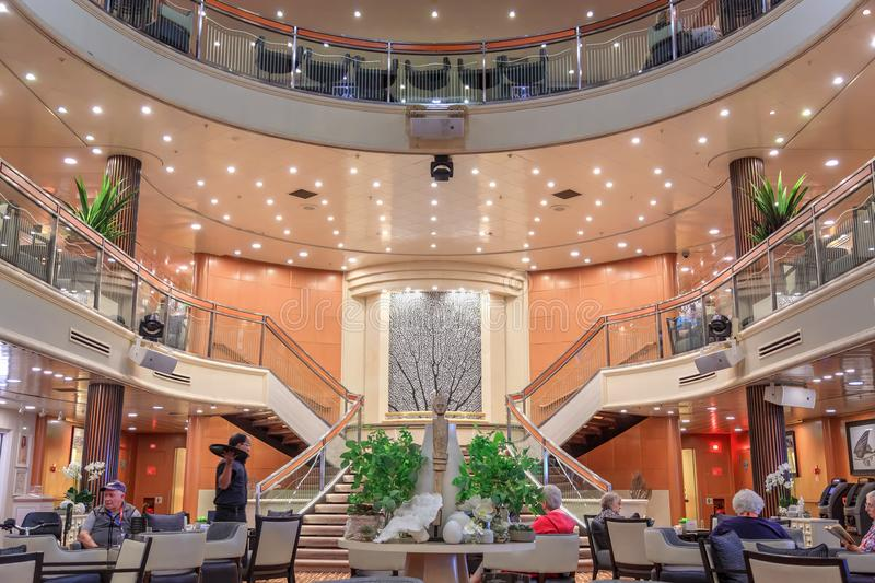 The atrium of a cruise liner royalty free stock image