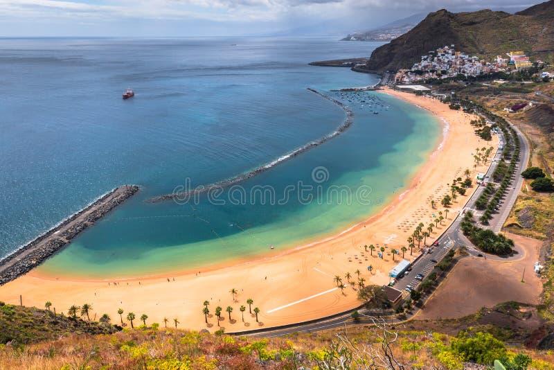 View of Las Teresitas Beach, Tenerife, Spain.  stock photography