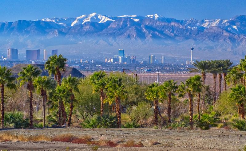 View of Las Vegas in Nevada royalty free stock images