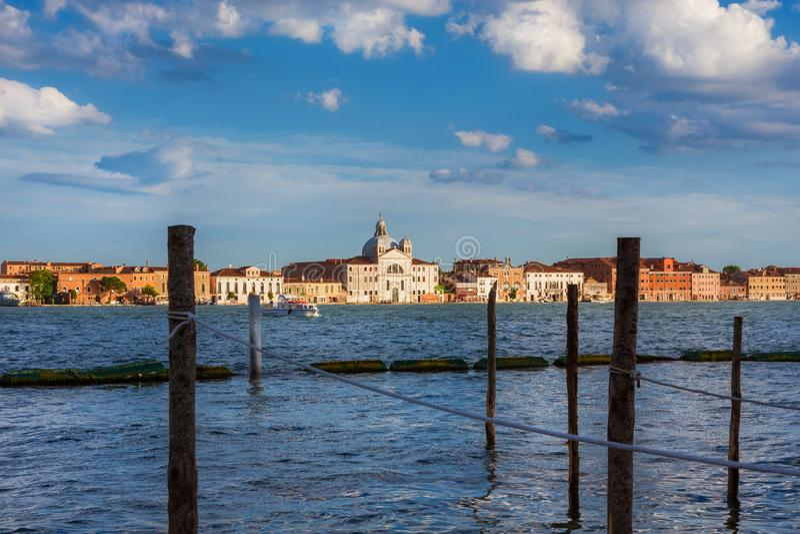 Zitelle Church on Giudecca Island in Venice stock photos