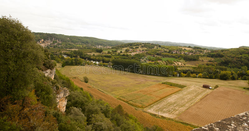 View from Le Jardin Marqueyssac France royalty free stock photo