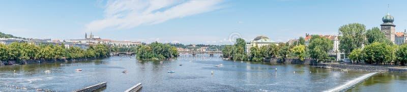 View of the Legion bridge in Prague royalty free stock photo