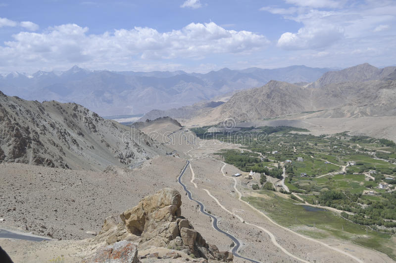 A view of leh in india stock photos