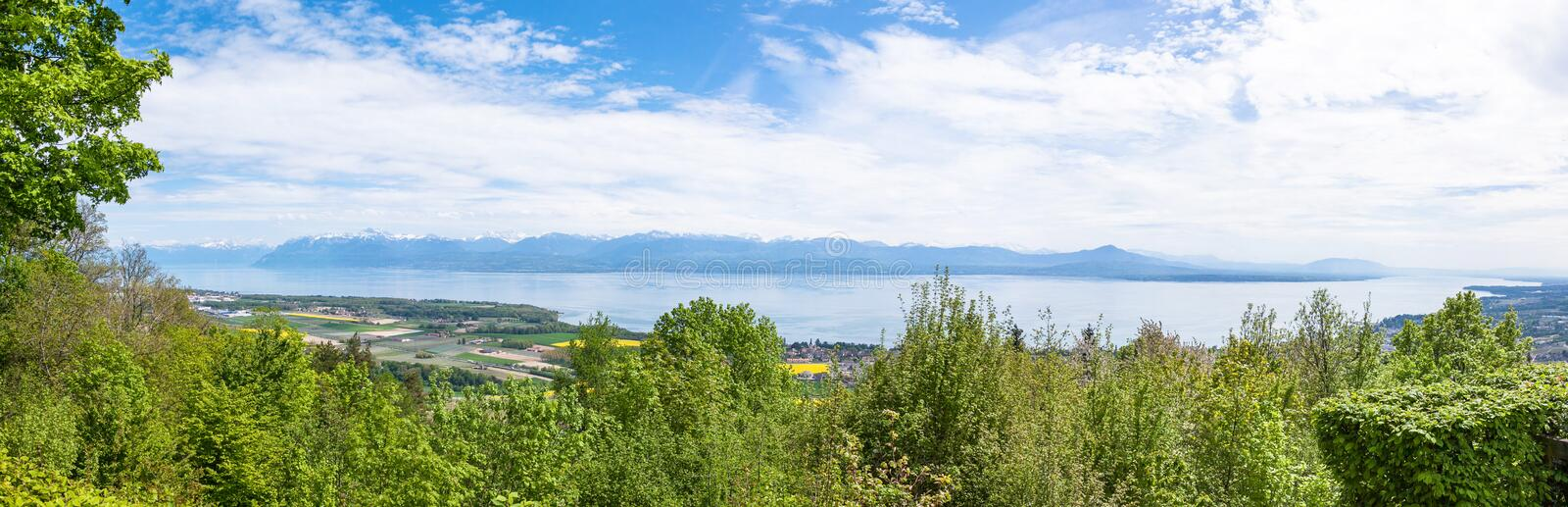Download View Of The Leman Lake From Signal De Bougy Park Stock Image - Image: 31065653