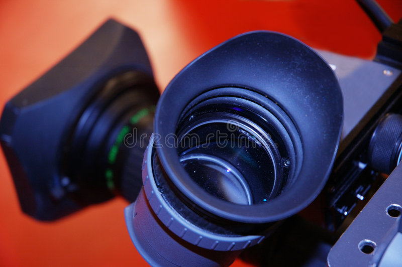 View through a lens stock image