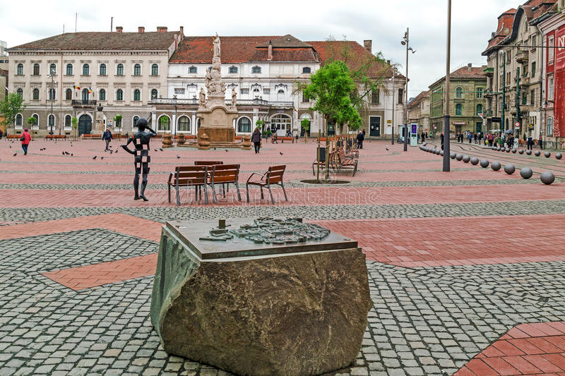 View of the Liberty-Square in Timisoara,Romania royalty free stock photography
