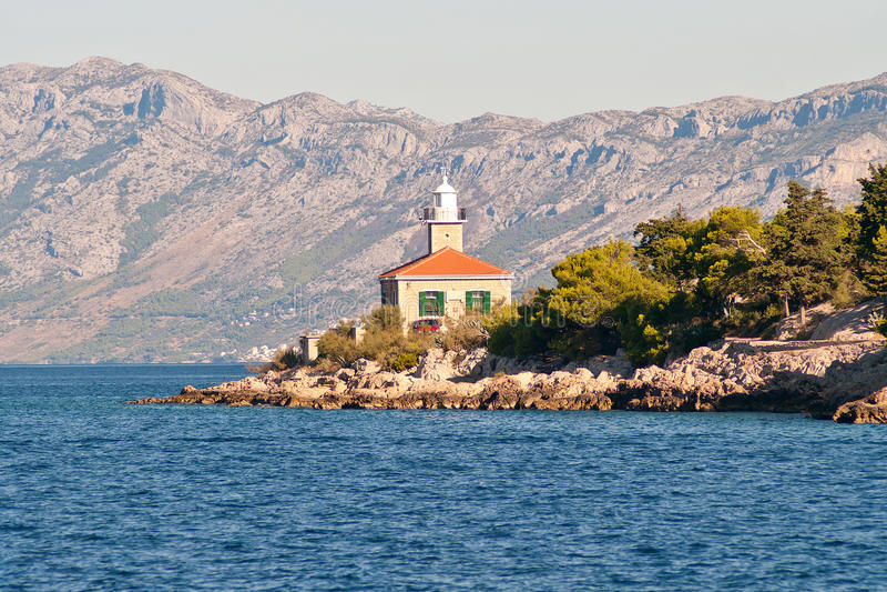 View On Lighthouse On Makarska Riviera, Croatia. Stock Image