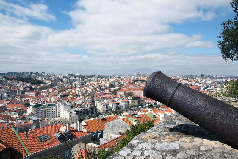 Download View of Lisbon stock photo. Image of scenic, point, panoramic - 18951924