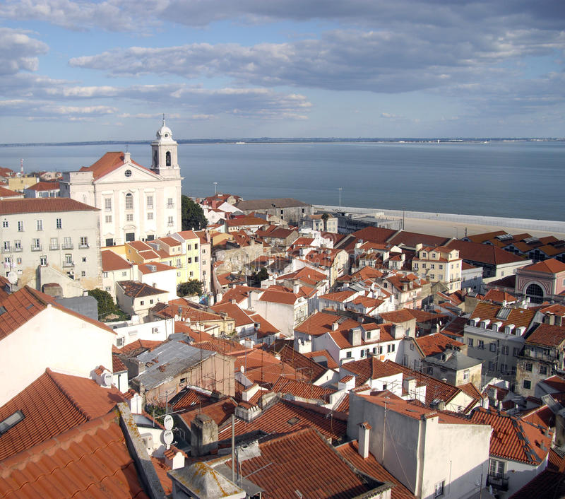 Download View of lisbon editorial image. Image of coastal, homes - 23748035