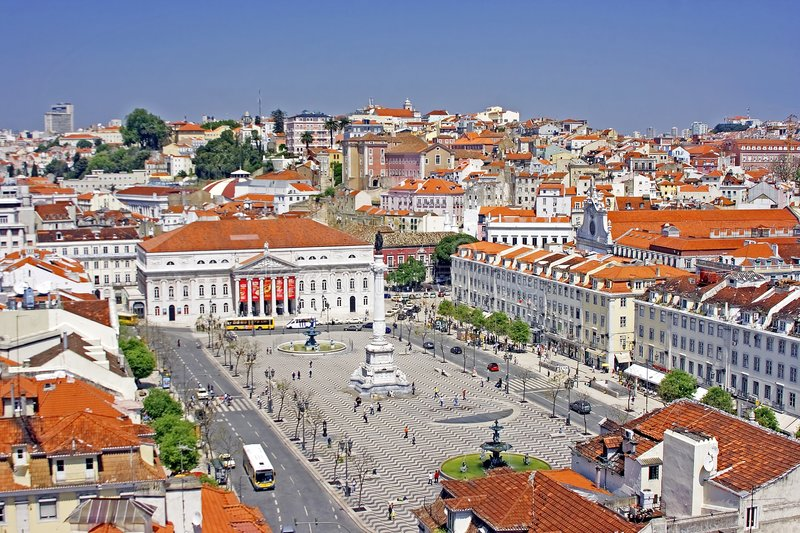 View At Lisbon City Stock Images