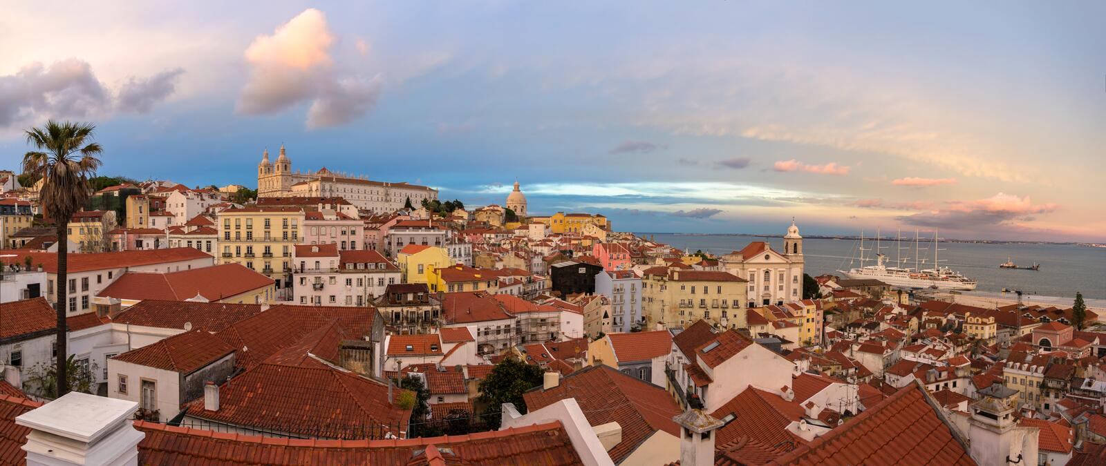 Download View Lisbon And The Tagus River Stock Image - Image: 42245491